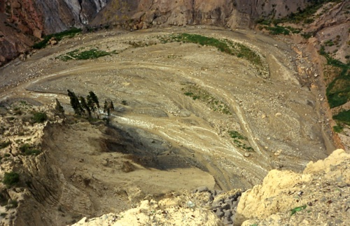 Barranco en torno a la Muela del Diablo.