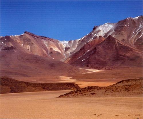El Altiplano, entre Uyuni y las lagunas Verde y Colorada (foto de Jean Joinville)