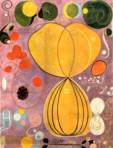 Muy anterior que la de Kandinsky, la obra de la pintora sueca abstracta Hilma Af Klint, revela el interés por la búsqueda espiritual de la época