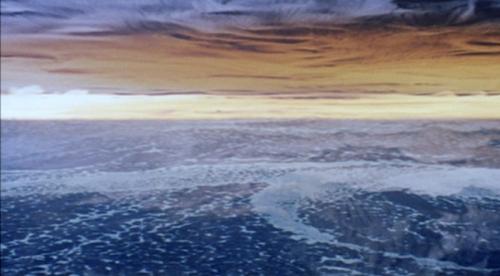 La atmósfera del planeta Solaris vista desde la nave espacial