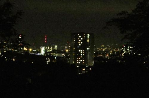 Londres en la noche, visto desde Hampstead Hill