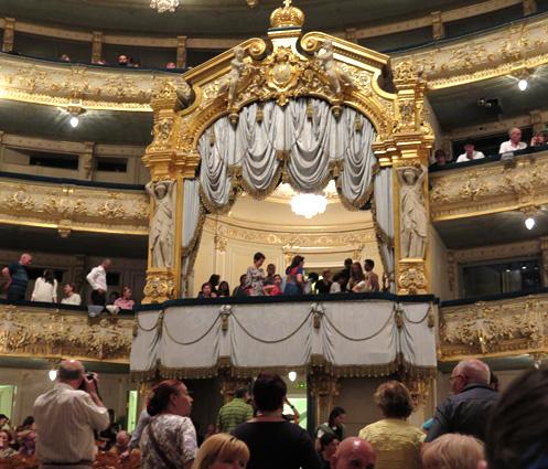 El antiguo palco imperial del Teatro Mariínski