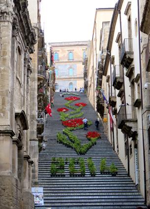 La gran escalera de Caltagirone