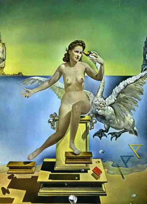 Atomic Leda, by Salvador Dalí, dedicated to his wife Gala, from Russian origin