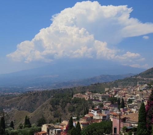 El Etna visto desde Taormina