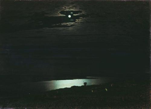 Noche de luna en el Dnieper