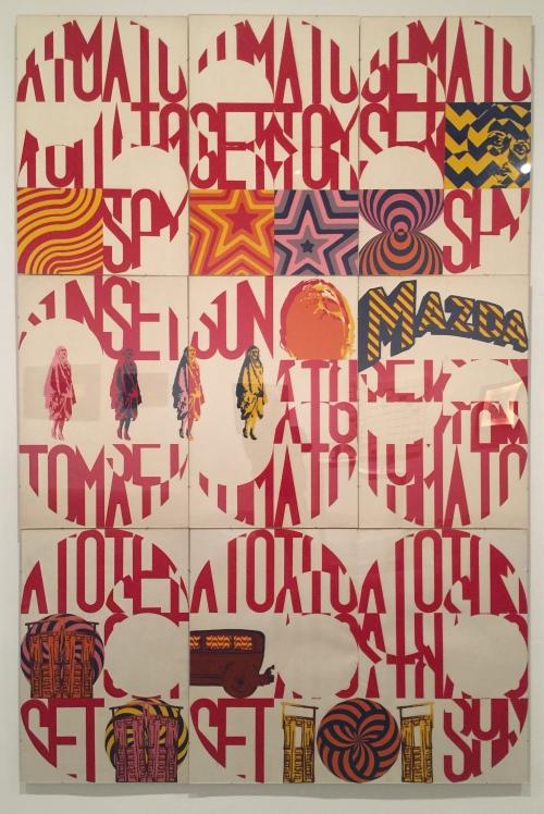 Herminio Molero,Tomato Sunset Tomato. Esmalte sobre cartulina, Museo de Arte Contemporáneo de Madrid, 1969.