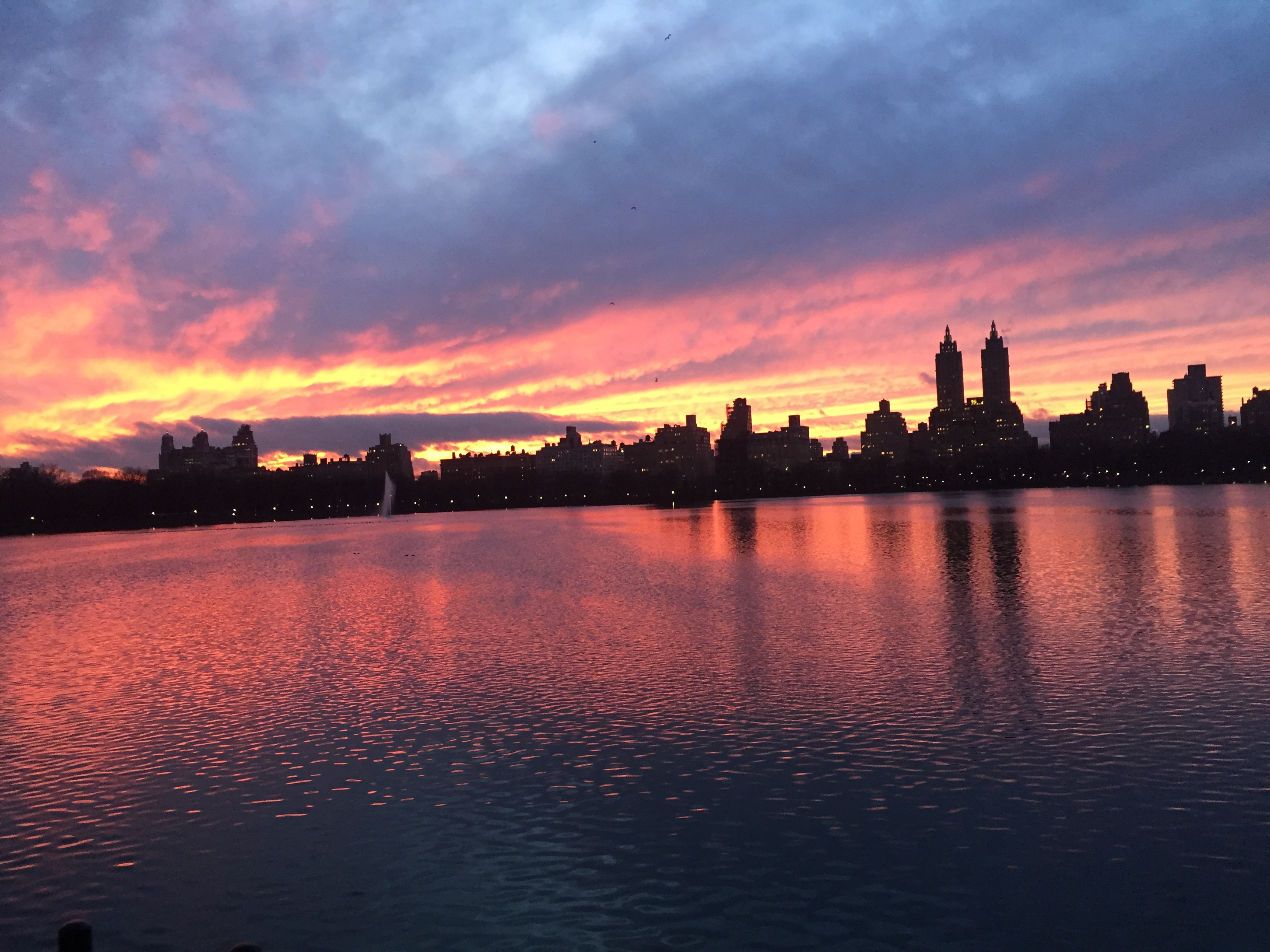 Sunset in Central Park, Friday 14th February 2020